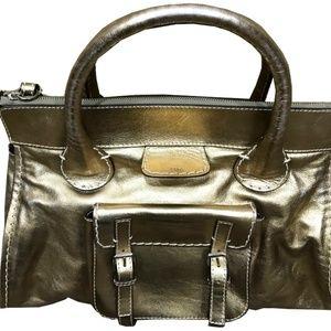 Chloe Leather Handbag Edith Vintage Look Gold